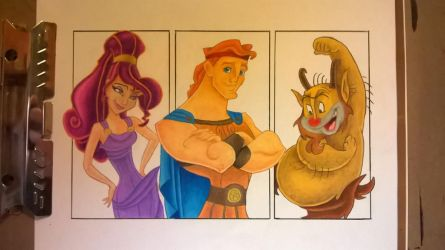 Hercules prismacolour drawing by leb82
