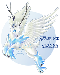 Winter Sawsbuck X Swanna by Seoxys6