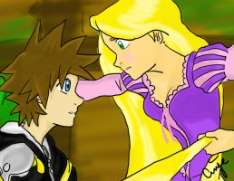 Kingdom Hearts: Tangled part 1 by bloodyspear