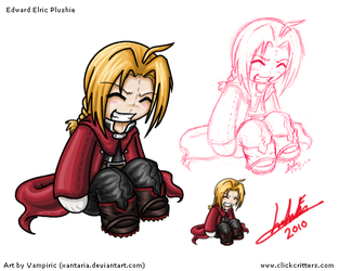 Edward Elric Plushie Art Sheet by Xantaria