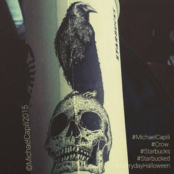 Nevermore Starbucks papercup by satanaku