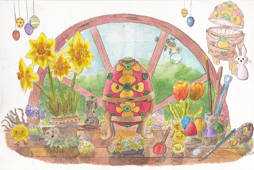 The Easter Bunny Faberge egg by hananas59