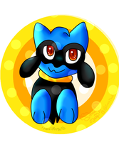 Riolu fanart/ Regalo para ANGEL C: by ZuraTFox