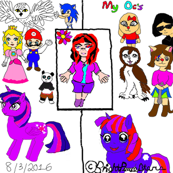 My ocs and fan characters by BrightPeaceStars