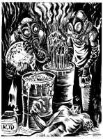 INKTOBER 2017 Day 9: The Acid Bath Murders by BryanBaugh