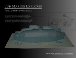 Sub Marine Explorer Steampunk Submarine Papercraft by RocketmanTan