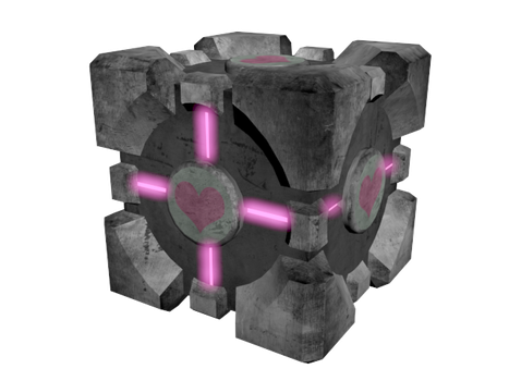 Weighted Companion Cube by alliaxandromeda