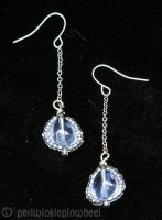 Blue Drop Earrings by periwinklepinwheel