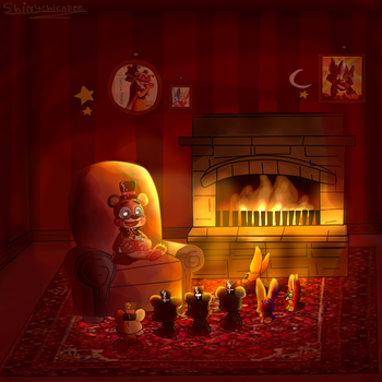 .:FNAF:. Story time with teddy! by Shinychicadee
