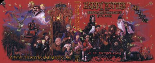 Harry Potter: Book 1 Cover by TheGeekCanPaint
