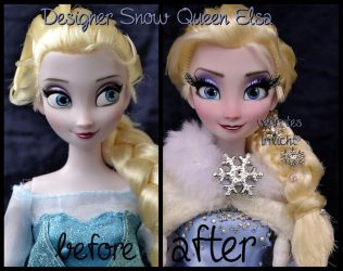 repainted ooak designer snow queen elsa doll. by verirrtesIrrlicht