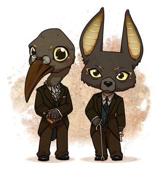 Mr Ibis and Mr Jacquel - American Gods by JoannaJohnen