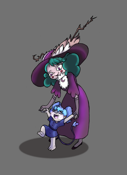 Eclipsa and Meteora by Bunnygirle26