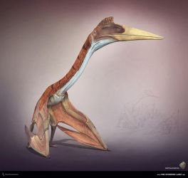 Quetzalcoatlus. The Stomping Land. 03 by Swordlord3d