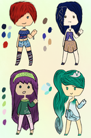 Human Adoptables [CLOSED] by Kuejena