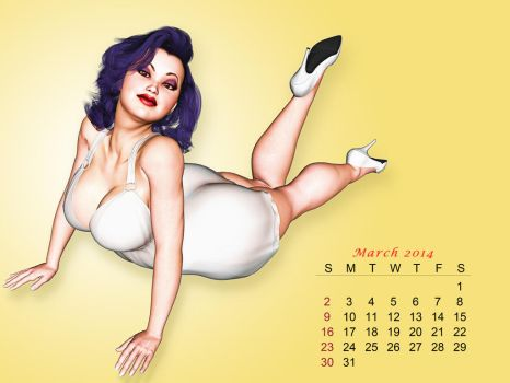 Pinup Number Twenty-Four: Calendar Girl (March) by wcpelon