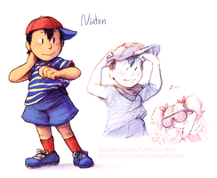 Ninten (first) [MOTHER 1] by Amphibizzy