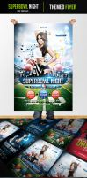 Superbowl Night Flyer Template by odindesign