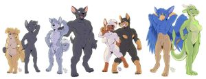 Housepets in my regular style II by RickGriffin