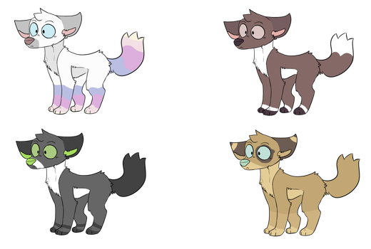 (Closed)    Canine Adoptable Batch by LeapingFerret