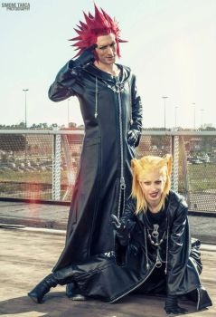 Axel and Larxene Cosplay Art - Kingdom Hearts by LeonChiroCosplayArt