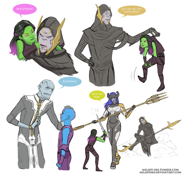 The Black Order mentors AU by Milady666
