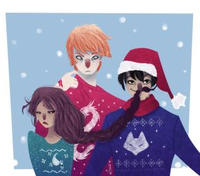 Ugly Sweaters by SerenaR-art