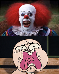 Pennywise scared Anais by TheCartoonWizard