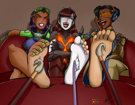 Overwatch Girls Best Foot First by oneortheother