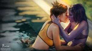 Tracer and Widowmaker by Firolian