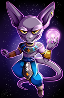 [P] Dragon Ball Super- Chibi Lord Beerus by Sweetochii