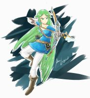 Palutena link (breath of the wild version) by MauLegend98