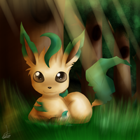 Leafy Leafeon :: by Nero-Blackwing