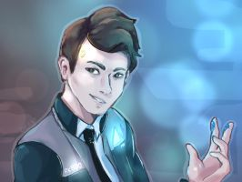 the android sent by cyberlife by BubbleGummy4