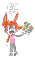 Bunnie Rabbot with 2 different IDW Sonic variants by dth1971