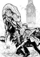 The Third Doctor 2 (2012) Inks by SteveAndrew