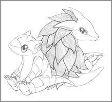 Sandslash and Sandshrew