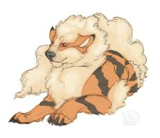 Kirin the arcanine by Vattukatt