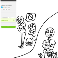Drawing Duolingo- I only like cats by ThatPan