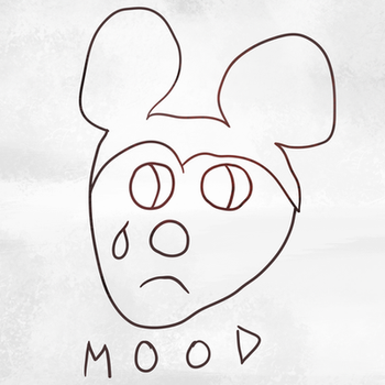 Lil Peep Sad Mickey MOOD Tattoo by xneetoh