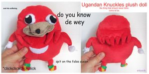FOR SALE: Ugandan knuckles plush by scilk