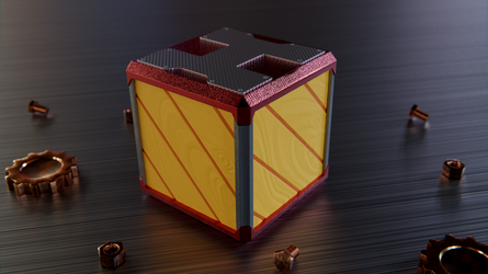 Ratchet and Clank - Bolt Crate by ninjatogo