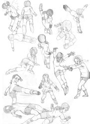 Various Videl Sketches - Fight by dougurasu