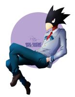 Tokoyami Fumikage - Boku no Hero Academia |Fan art by rose-92