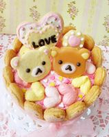 Rilakkuma Charlotte Cake by StrawberryStory