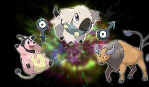 Tauros and Miltan pre evolution  - Calbell