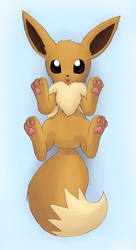 Widdle Eevee Pawsies by Rika-of-Thunder