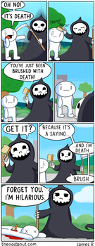 Brushed By Death by theodd1soutcomic