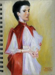 Caricature of a John Singer Sargent Painting by PaulPhillips