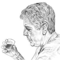 Anthony Bourdain by tomify